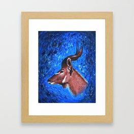 Vanishing Kudu Framed Art Print