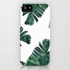 Banana Leaf Watercolor Pattern #society6 Slim Case iPhone SE