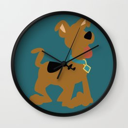 Puppy Scooby Wall Clock