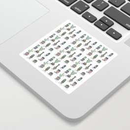 Cactus and Succulent Pattern Sticker