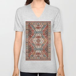 Geometric Oriental Vintage Traditional Moroccan Style Unisex V-Neck
