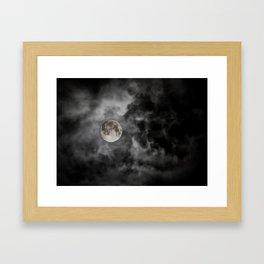 Black Night Framed Art Print