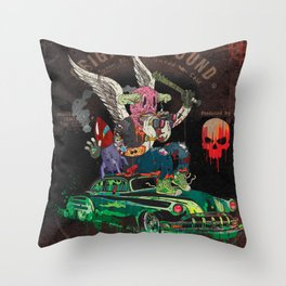 Death Rattle Throw Pillow
