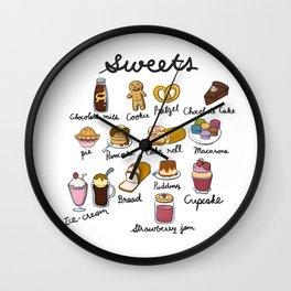 Hand Drawn Sweets Wall Clock