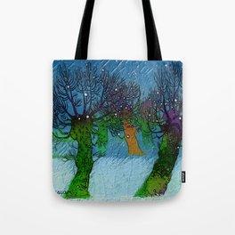 Nightfall snowing Tote Bag