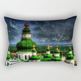 Domes of Trinity Cathedral, Chernigov, Ukraine Rectangular Pillow