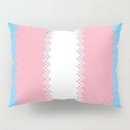 pixel pride- trans pride flag Pillow Sham