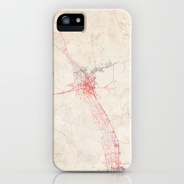 Las Cruces map New Mexico iPhone Case