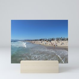 Santa Monica Beach Mini Art Print