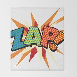 Comic Book Pop Art Sans ZAP! Throw Blanket
