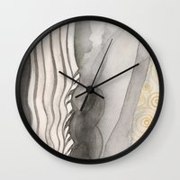 middle earth Wall Clocks featuring Earth 1 by angela deal meanix
