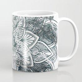 Indie Floral Mandla on White Marble Coffee Mug