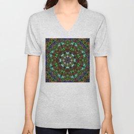 Floral Kaleidoscope  Unisex V-Neck