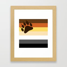 Bear Flag Paw Edition Framed Art Print