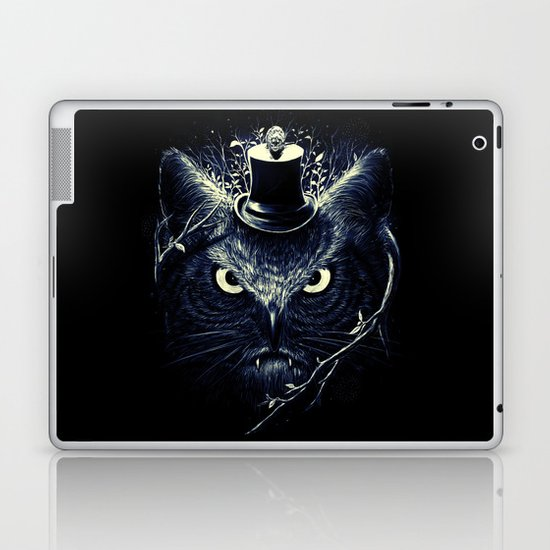 Meowl (Blue) Laptop & iPad Skin