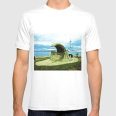 Monument doomsday. MEDIUM White Mens Fitted Tee