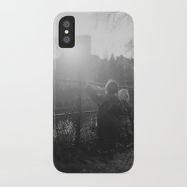 Two Boys in Berlin iPhone Case