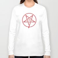 pentagram Long Sleeve T-shirts featuring Adversary Pentagram by Divine Mania