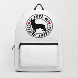 I Love my German Shepherd Backpack