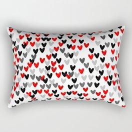 Cute Hearts Rectangular Pillow