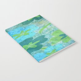 Floral batik in blues and greens Notebook