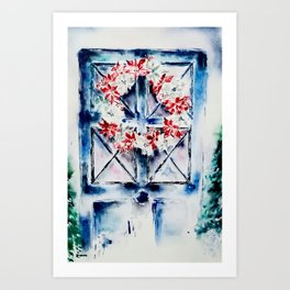 Deck the ...Doors Art Print