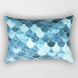 REALLY MERMAID SILVER BLUE Rectangular Pillow