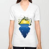 brasil V-neck T-shirts featuring Brasil by Yuri Lobo