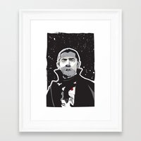 dracula Framed Art Prints featuring Dracula by Matt Fontaine Creative