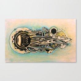 Comète monde Canvas Print