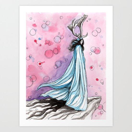 witchy bubbles Art Print