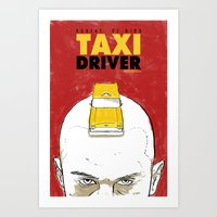 taxi driver Art Prints featuring Taxi Driver by Matthew Bartlett