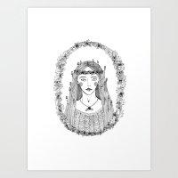 Autumn Lady Art Print