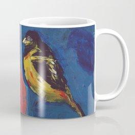 Shadow Bird (Cardinal, Goldfinches, and ?) Coffee Mug