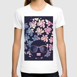 Afro Diva Mauve Teal Galaxy T-shirt