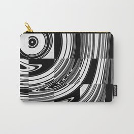 Black White Tiled Carry-All Pouch