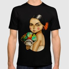 Lola Flores Mens Fitted Tee MEDIUM Black