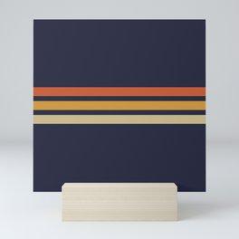 Vintage Retro Stripes Mini Art Print