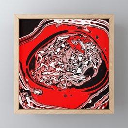 Red Black White Abstract Framed Mini Art Print