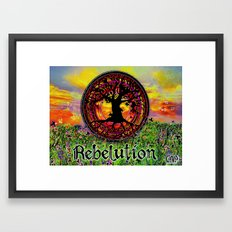 Rebelution Tree of Life Bright Side of Life Beautiful Sunrise/Sunset Landscape Framed Art Print