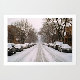 Bridgeport Snow Art Print