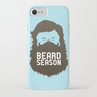 gold iPhone & iPod Cases featuring Beard Season by Chase Kunz