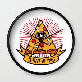 Pizza illuminati Wall Clock