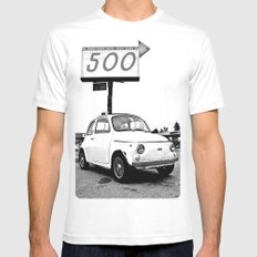Fiat 500 Forever Mens Fitted Tee White MEDIUM