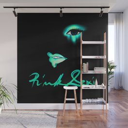 Pink Lexi Electric Teal Wall Mural