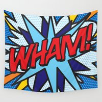 comic book Wall Tapestries featuring Comic Book WHAM! by The Image Zone