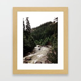 Behind the Mountain.  Framed Art Print