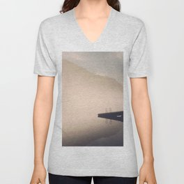Morning Fog On The Little Tennessee River - Smoky Mountains Unisex V-Neck