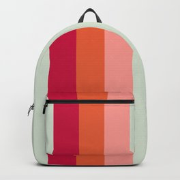 Arimaspi - Classic Colorful Abstract Minimal Retro 70s Style Stripes Design Backpack