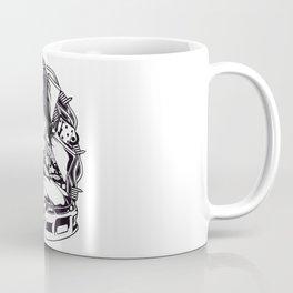 Tattoo GIRL with SKULL AND CAR - Snake Coffee Mug